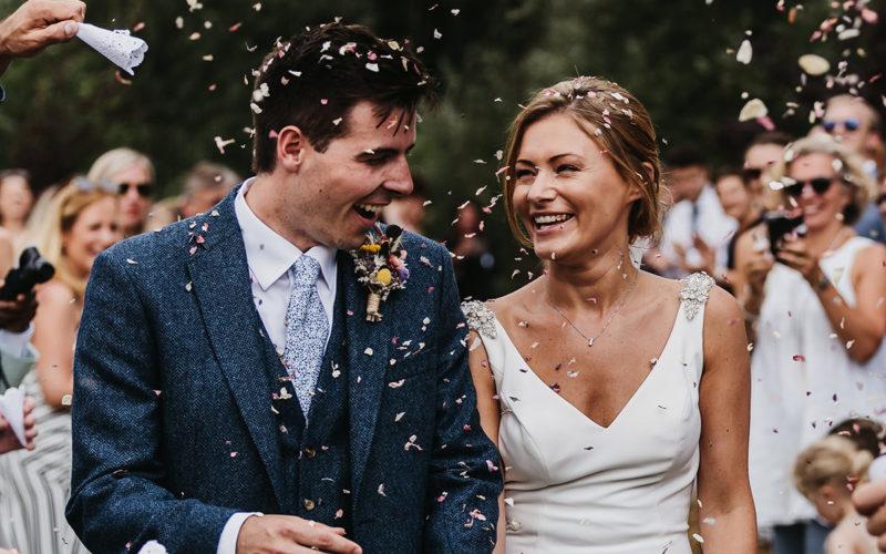 Browning Bros Wedding confetti