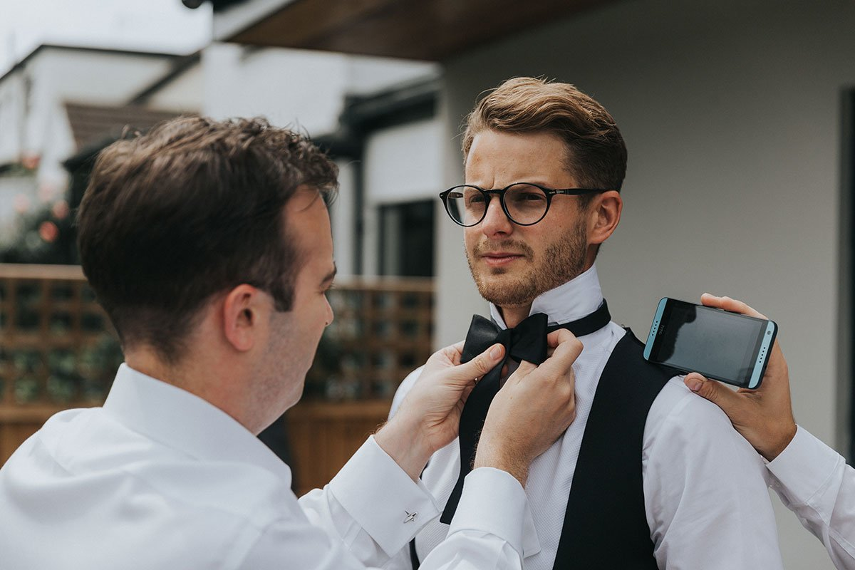 groom preparation tips tie