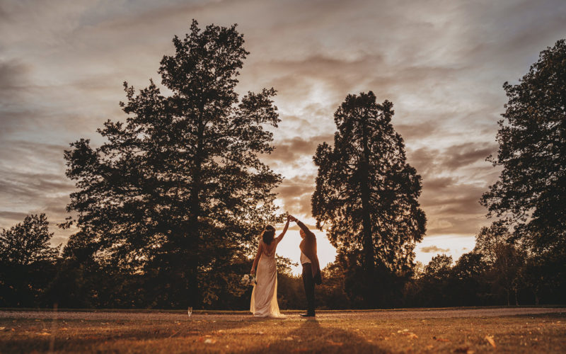 braxted park summer wedding sunset